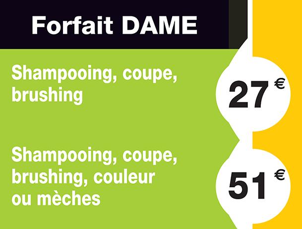 forfait dame coiffure diagonal - Prix De Coloration Chez Le Coiffeur